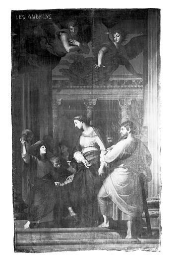 Tableau : le Christ enfant au milieu des Docteurs