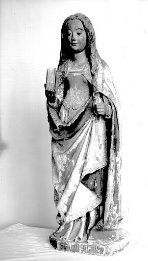 Statue (petite nature) : sainte Catherine d'Alexandrie ?
