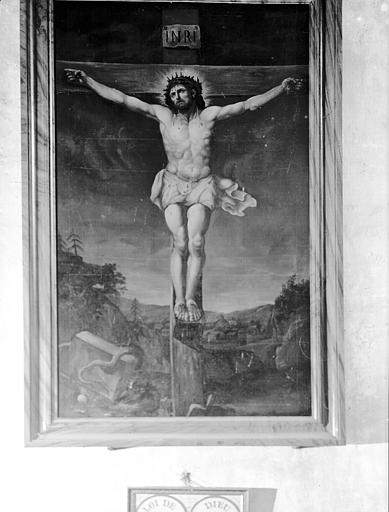 Peinture sur toile : Christ en Croix