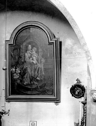 Tableau : Vierge à l'Enfant assise, ou Sainte Rose de Lima à l'enfant Jésus ?