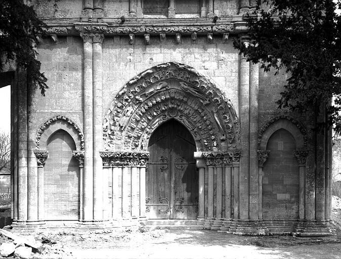 Partie inférieure de la façade ouest