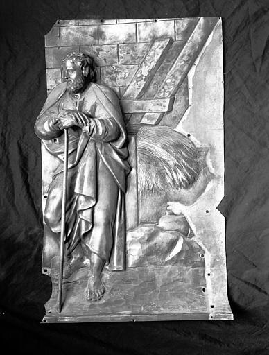 Plaque en argent doré : fragment du tombeau de maître-autel