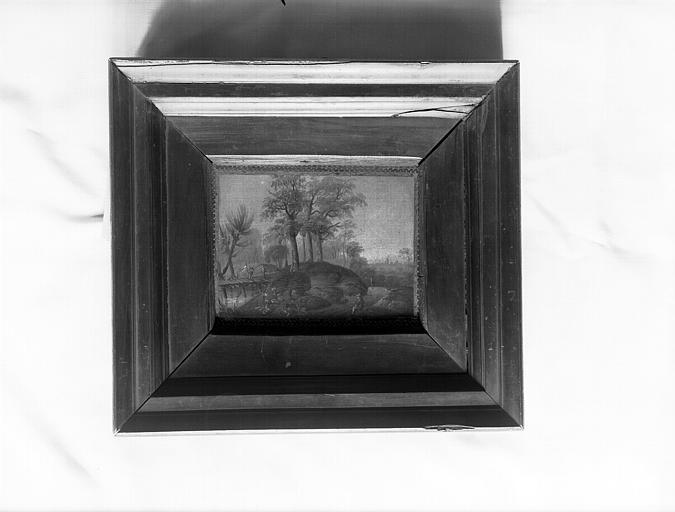 Tableau situé au palier du deuxième étage : paysage