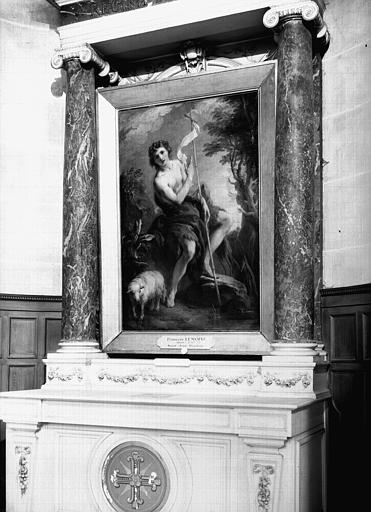 Peinture sur toile : saint Jean-Baptiste