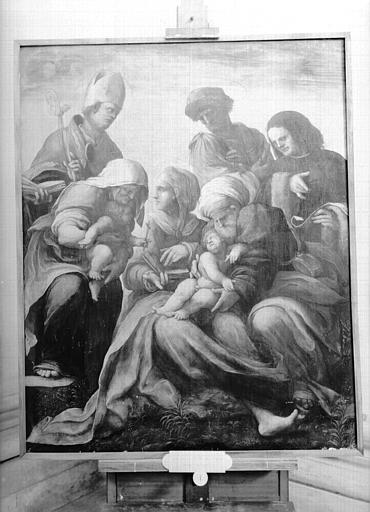 Peinture sur toile, Bologne : Vierge à l'Enfant entourée de saints