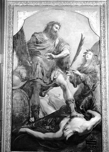 Peinture sur toile : Godefroy de Bouillon victorieux