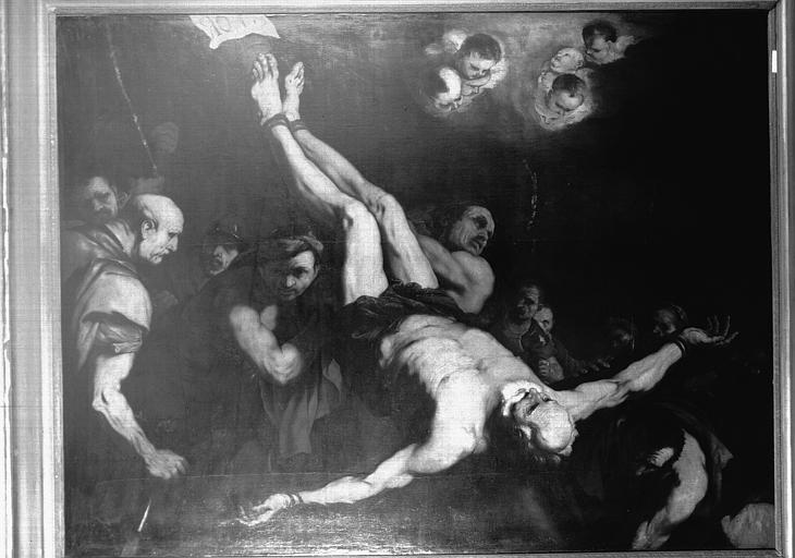 Peinture sur toile : Crucifiement de saint Pierre