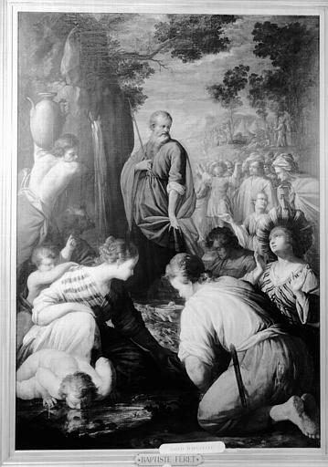 Peinture sur toile : Moïse frappant le rocher d'Horeb