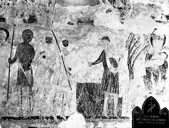 Détail de la peinture murale de la Fuite en Egypte : épisode du  semeur