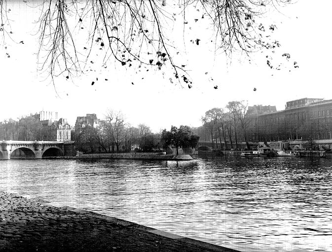 Pointe du square Henri IV : ensemble vu de la rive droite