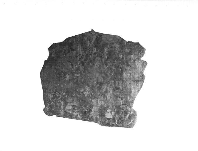 Plaque de fer avec traces de bains de cuivre, époque romaine