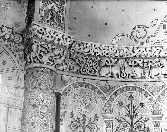 Intérieur : décoration du choeur, côté nord