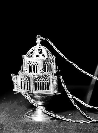 Encensoir en cuivre argenté de l'atelier Toulousain (supposé)