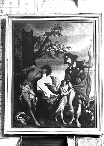 Panneau peint : saint Roch
