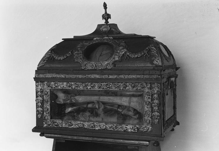 Châsse reliquaire de saint Clément Alacrius, revers