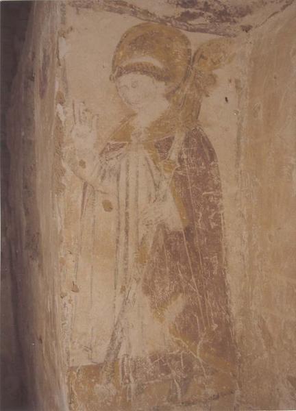 peintures monumentales, mur du chevet, détail