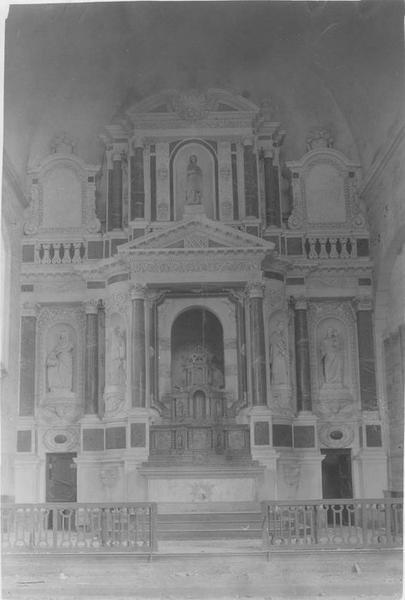 retable du maître-autel, vue générale