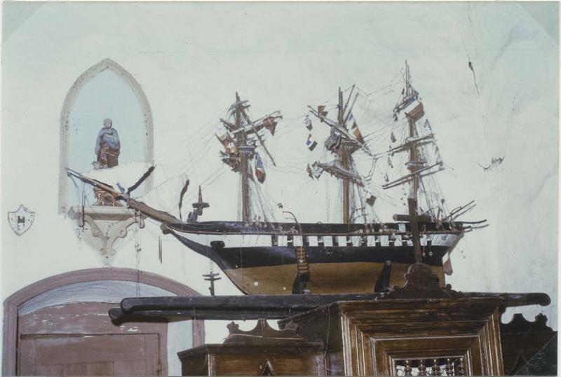 Maquette (maquette de procession) : saint Aubin (le), vue générale