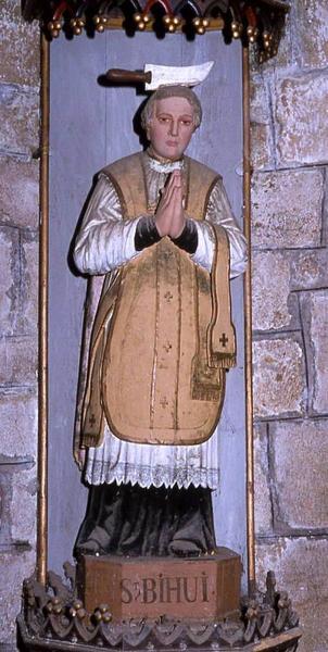 statue : Saint Bieuzy et sa niche