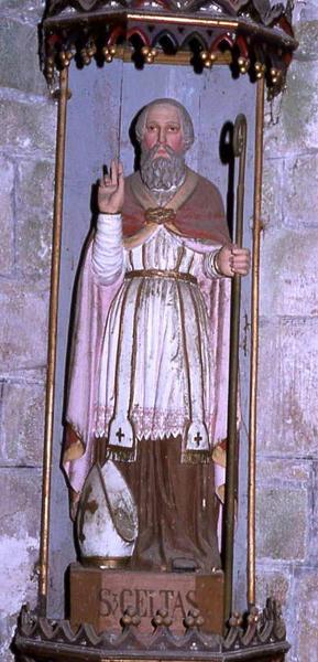Statue et sa niche : Saint Gildas