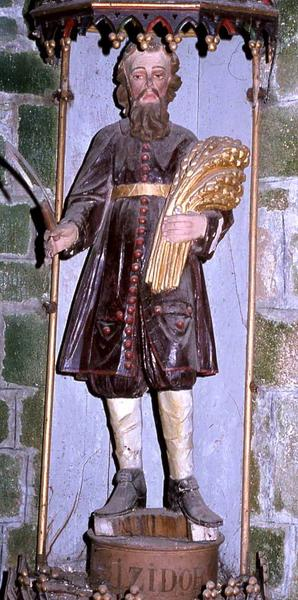 Statue et sa niche : Saint Isidore