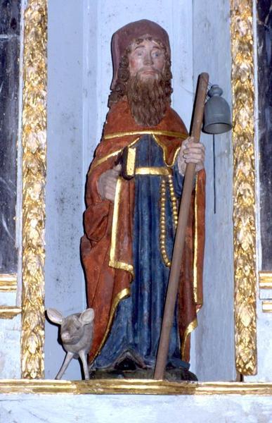 deux statues : Saint Antoine et Vierge à l'Enfant