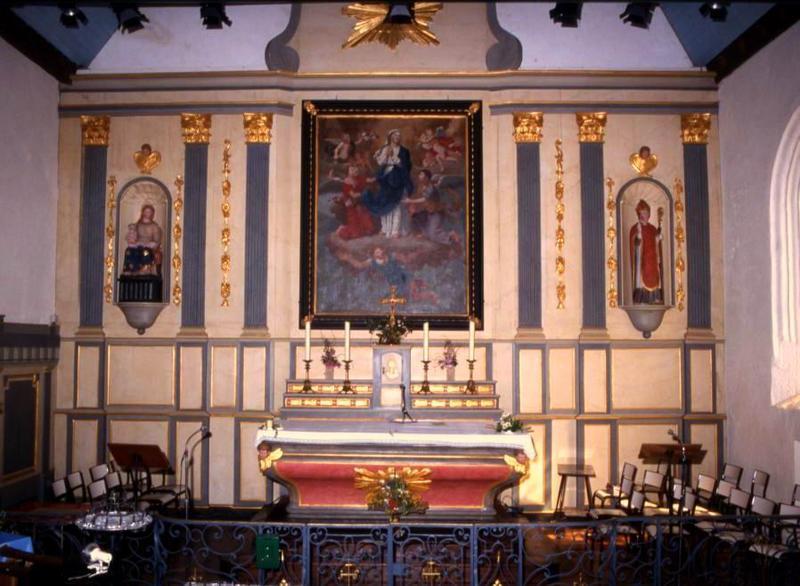 Lambris de revêtement et tableau : Assomption de la Vierge