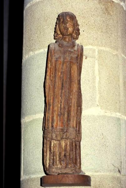 Statue : Saint ecclésiastique (Saint Laurent ?)