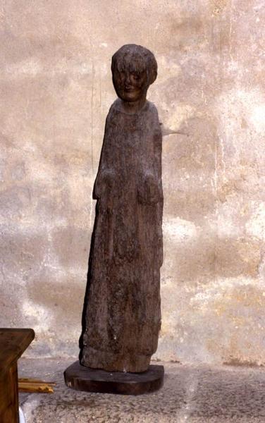 Statue : Saint personnage (Saint Augustin ?)