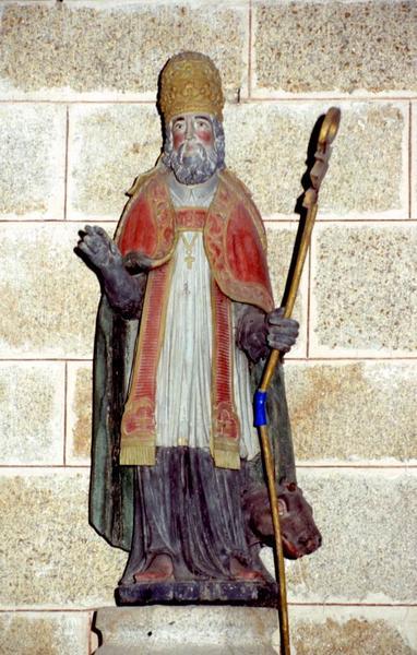 statue : Saint Cornély et son boeuf