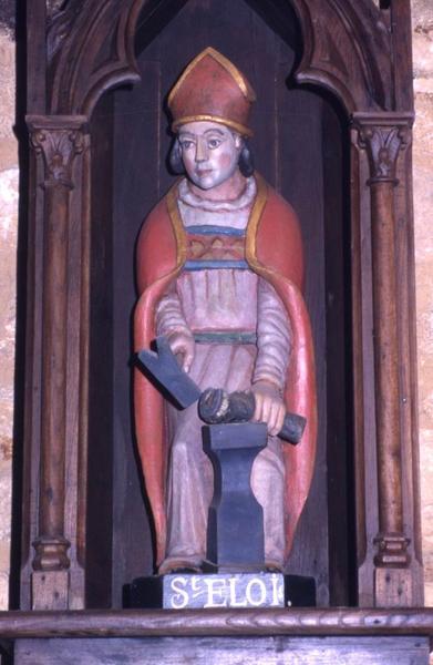 Quatre statues : Saint Eloi et trois Chevaux