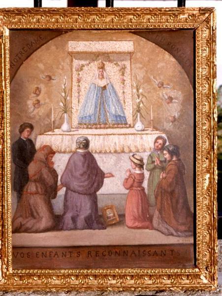tableau ex-voto à Notre-Dame-du-Roncier