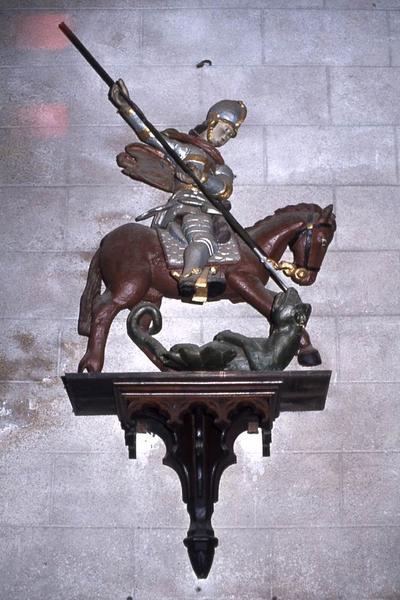 Groupe sculpté : Saint Georges et le dragon