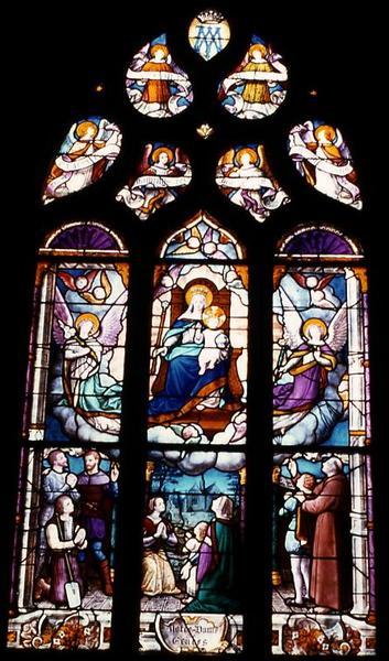 verrière de la nef sud : Notre-Dame de Grâce