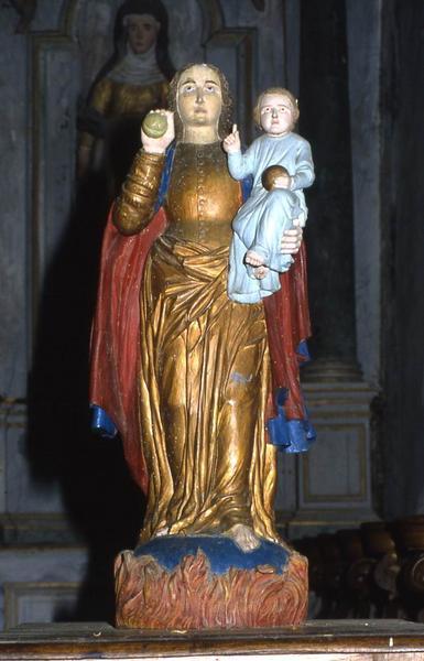 Statue de procession : Vierge à l'Enfant dite Notre-Dame de Crénéan
