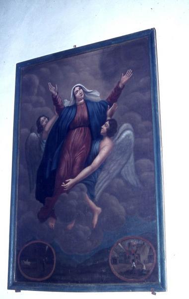 Tableau ex-voto : Assomption de la Vierge