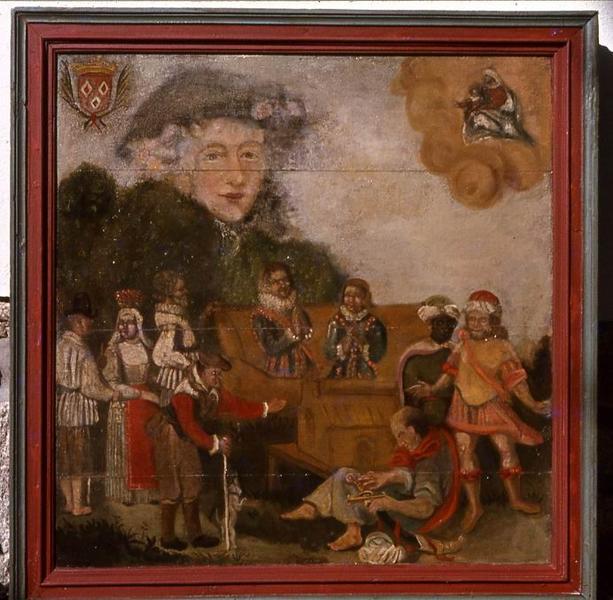 tableau ex-voto n°2 : Scène avec personnages