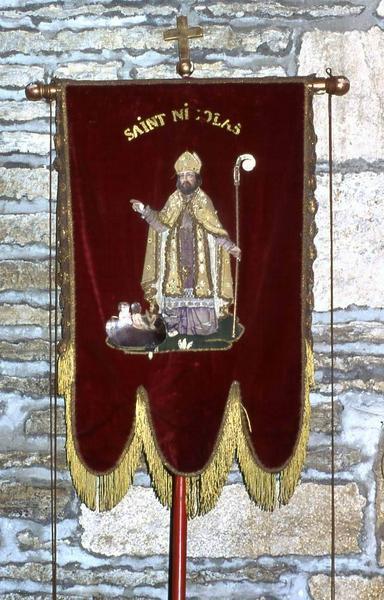 Bannière de procession n°1 : Saint Nicolas et Saint Clément