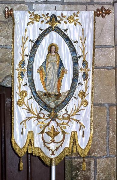 Bannière de procession n°3 : Vierge Immaculée et Saint Armel