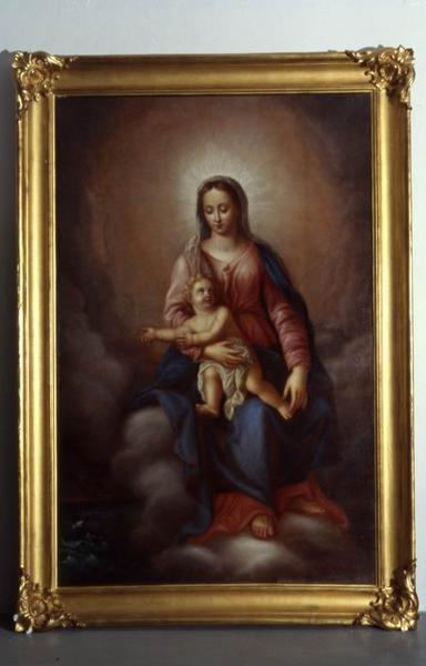 tableau ex-voto : Intercession de la Vierge et de l'Enfant auprès d'un bateau en difficulté