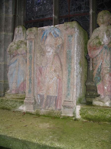 Groupe sculpté : Vierge, saint Jean et saint Mériadec