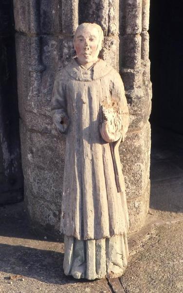 statue : Saint moine (Saint Fiacre)
