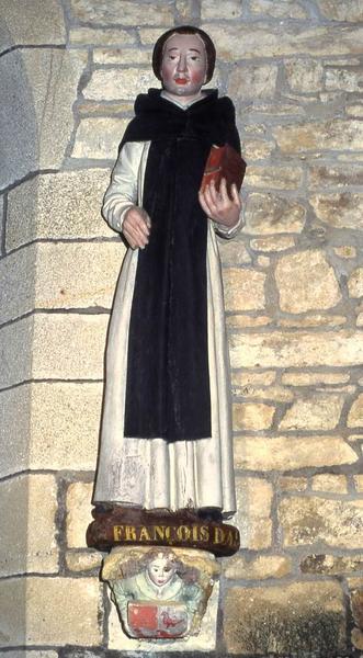 Statue : Saint François d'Assise (Saint Vincent Ferrier ?)