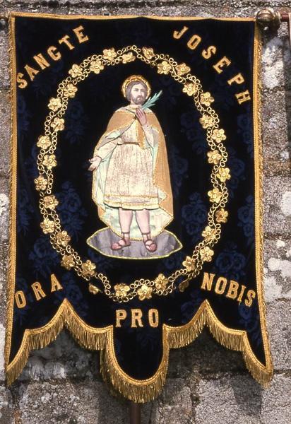 bannière de procession n°1 : Saint Joseph (avers)
