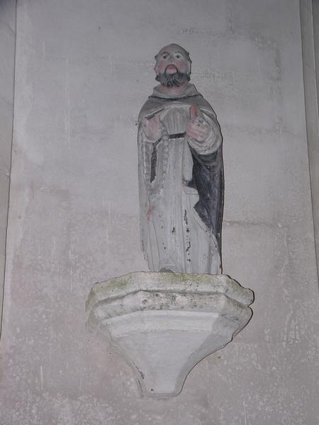 statue : Saint moine (Saint Dominique ?)