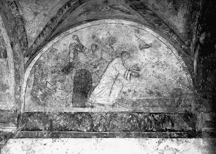 2 peintures monumentales : La Lapidation de saint Etienne, Saint Etienne devant le juge