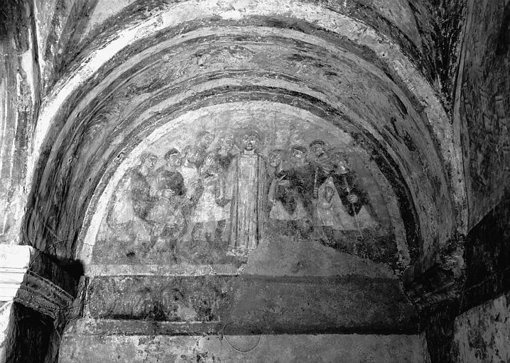 Peinture monumentale : Saint Etienne cerné par les Juifs