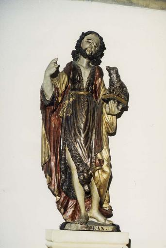 Statue : Saint Jean-Baptiste, bois polychrome