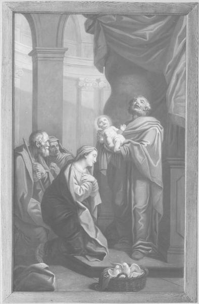 Lambris de revêtement, tableau : la Présentation de Jésus au temple