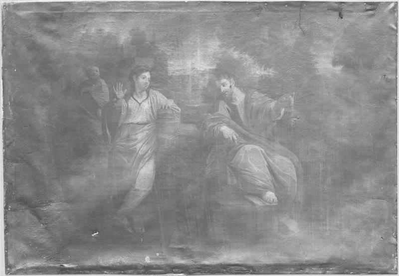 Tableau : le Christ et la Samaritaine